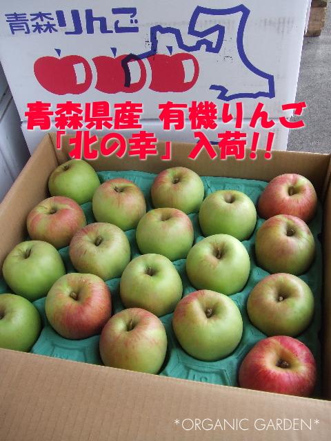 青森県産・三上さんの有機りんご初入荷