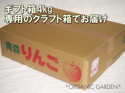 有機りんごギフト箱4kg